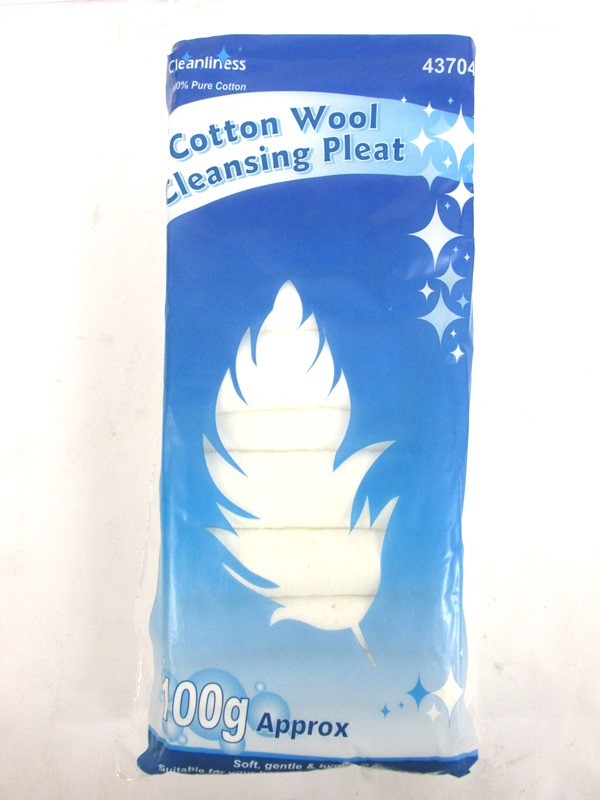 Image of Cotton Wool Cleansing Pleat 12x100g