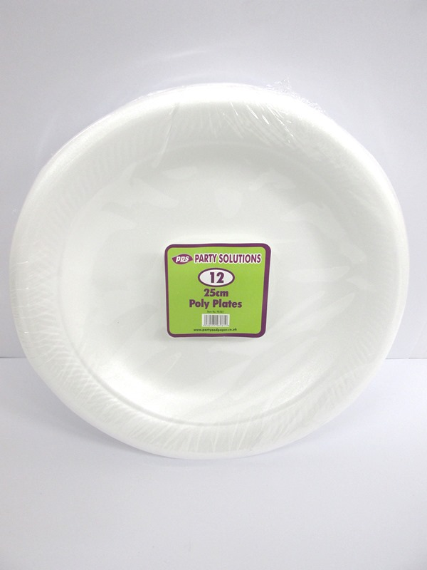 Image of 23cm White Paper Plates 36x30'S 98005