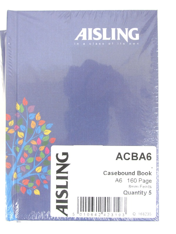 Image of Aisling A6 Hardback Notebook Pk5 Acba6 52367