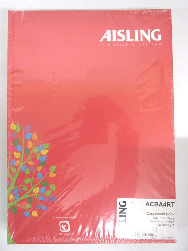 Image of Aisling A4 Hardbacxk Red 10x3's 65935