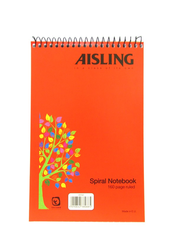 Image of Aisling Spiral Notebook Top Opening 10x160pg