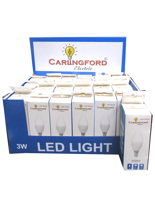 Image of Carlingford Electric Candle Bulb 3w Led Pk24