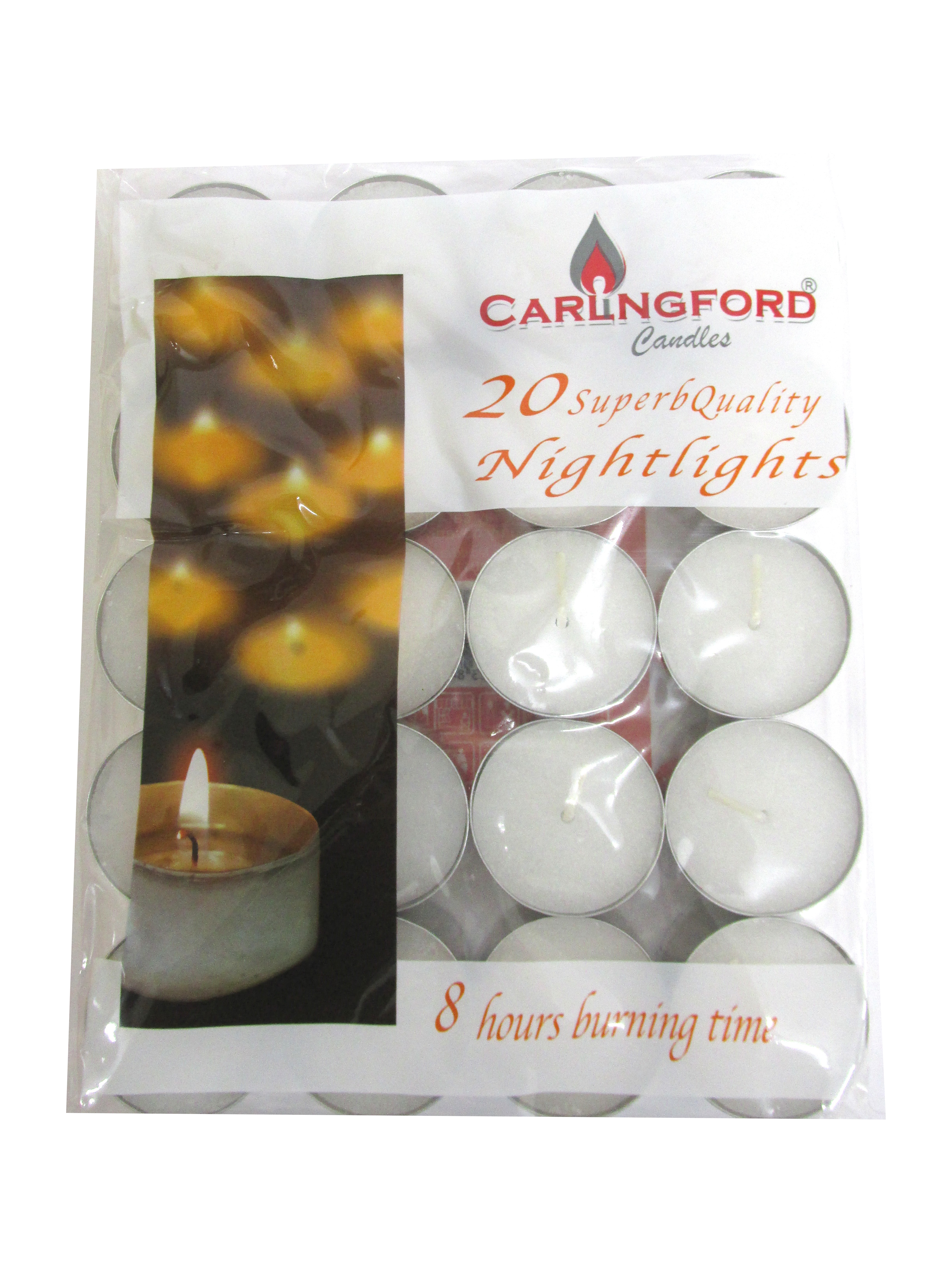 Image of Carlingford White Tealights 24x20'Sx8hr