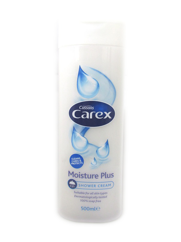 Image of Carex Shower & Bath Moisture White 6x500ml