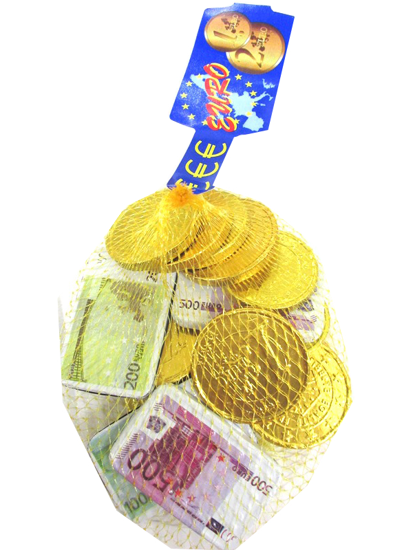 Image of Choc Euro Coins&notes 50x125g