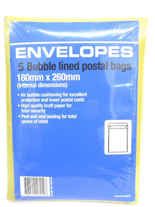 Image of Bubble Envelopes G 180mmx260 (883124) 20x5'S