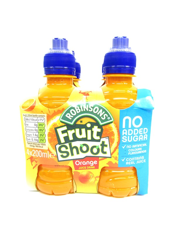 Image of Robinsons Fruit Shoot 6x4'Sx200ml Orange