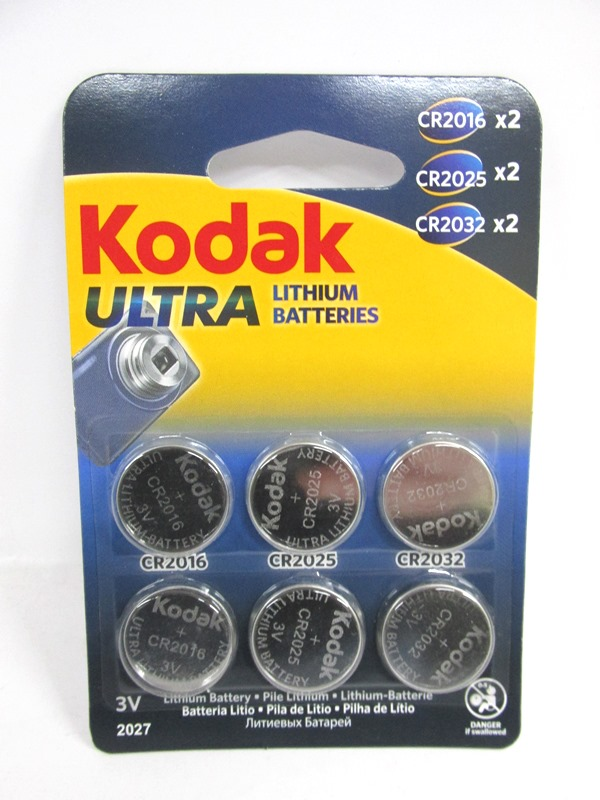 Image of Kodak Lithium Batteries 12x6'S