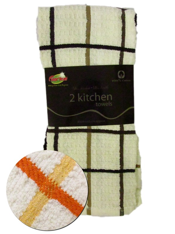 Image of Easy Clean Egyptian Tea Towels Pk8 X 2'S