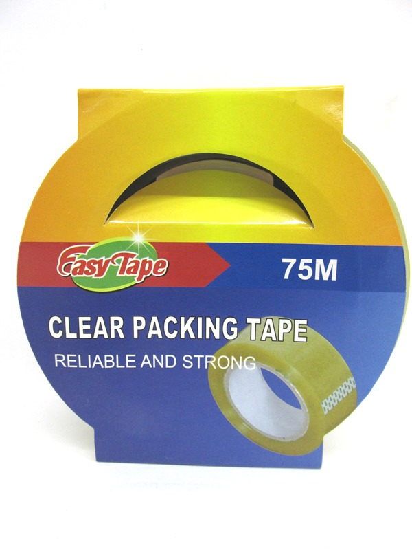 Image of Easy Tape Clear Packing Tape 75m Pk48