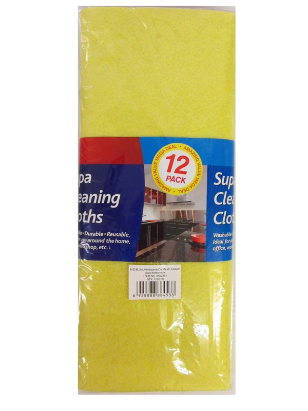Image of 12 Pack Supa Cleaning Clothes Pk24