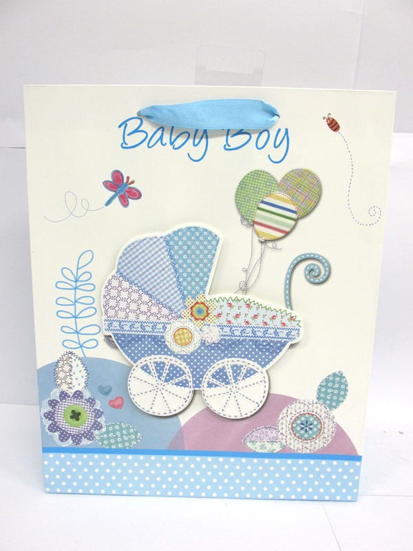 Image of Gift Bag Baby B/g Cute Des 4 Asst Large Pk12