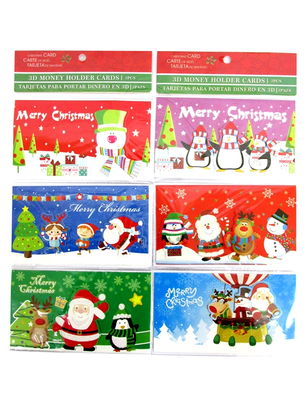 Image of Xmas Money Gift Wallet 12x3'S Md3684