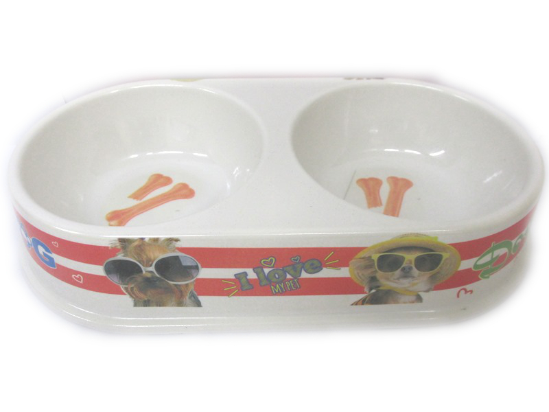 Image of Dog Bowl Twin 4 Asst Med Pk15 Md4032 Hka009