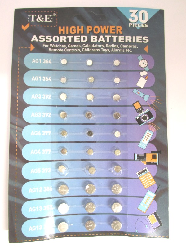 Image of Alkaline Assorted Batteries 20x30's Md4115