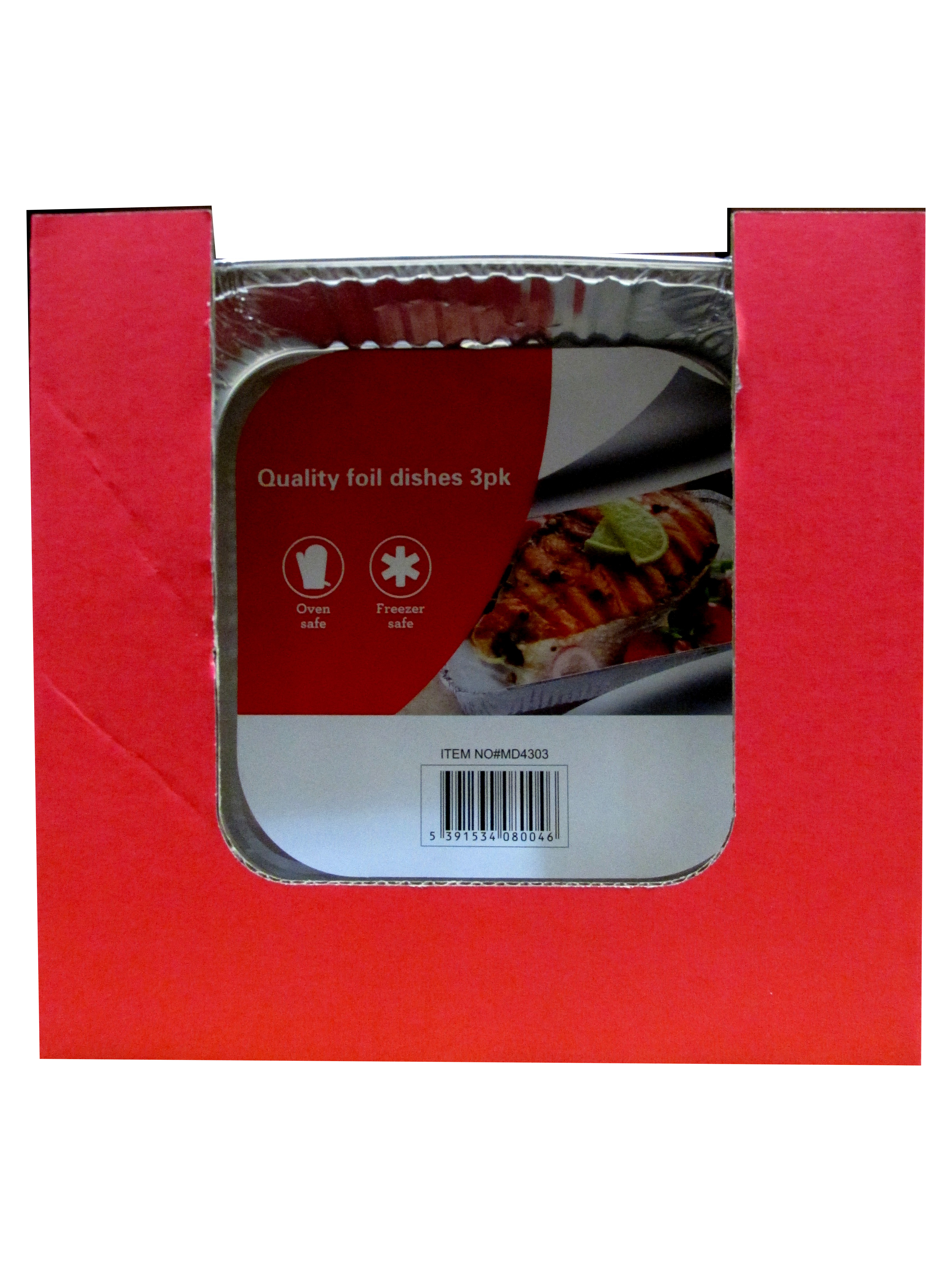 Image of Foil Dish Square 24x3's Md4303