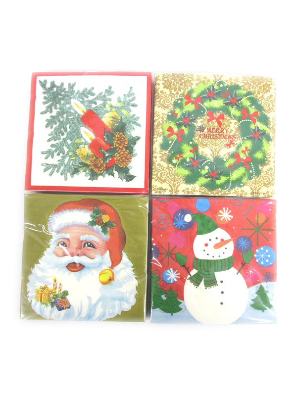 Image of Christmas Napkins Pk48 33cm X 33cm