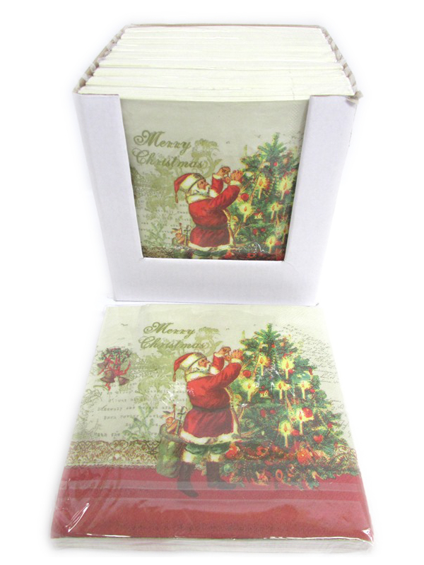 Image of Christmas Napkins Pk10 Pf72a
