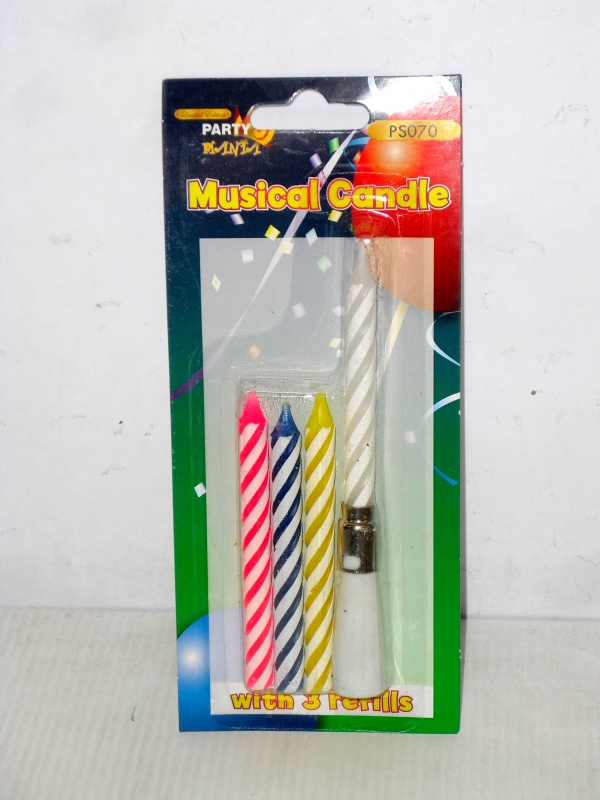 Image of B'Day  Musical Candles With Refills Pk24