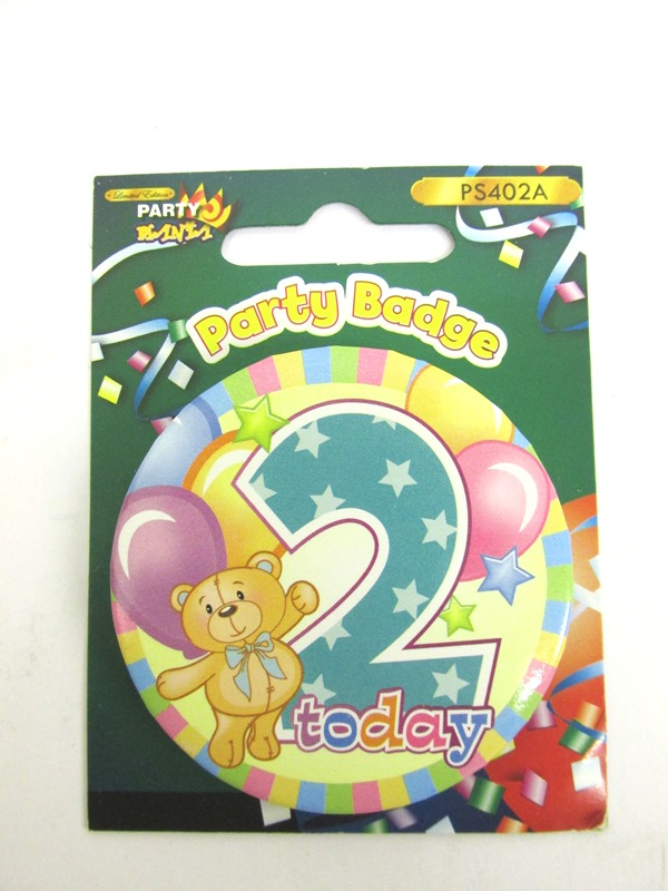 Image of B'Day Badges 56mm Pk24 Age 2