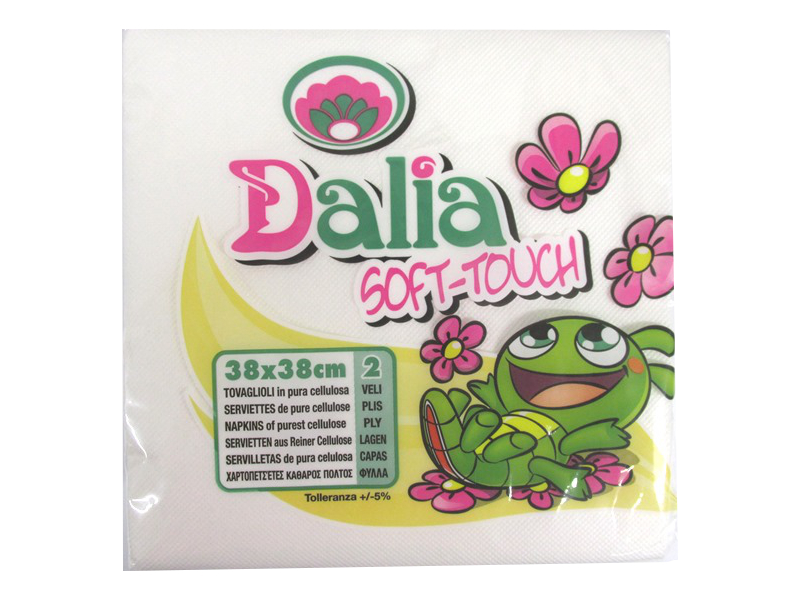 Image of Dalia Soft Touch Napkins 38x38cm 2ply Pk24